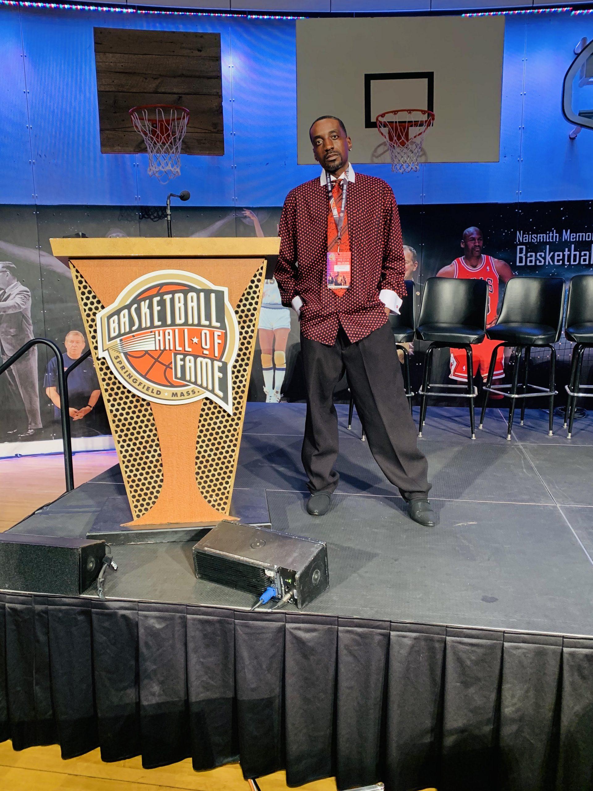 NBA Panel host John Weatherspoon at Basketball Hall of Fame